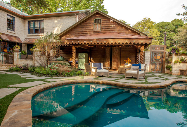 Caruth home fall 2012 winter 2013 rustic pool for Rustic pools