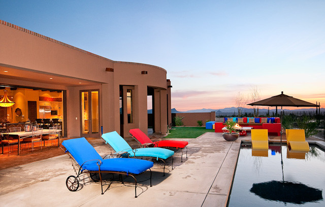 Casa - Tucson Territorial elevation mediterranean-pool