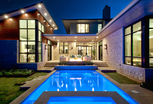Cat Mountain Residence Contemporary Pool Austin By