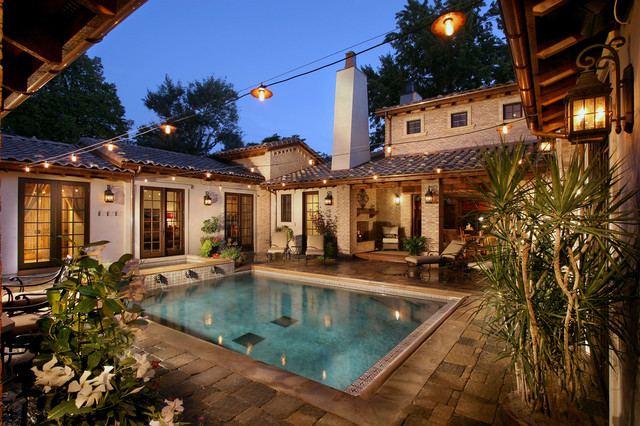 Celebrity custom homes for Pool design houzz