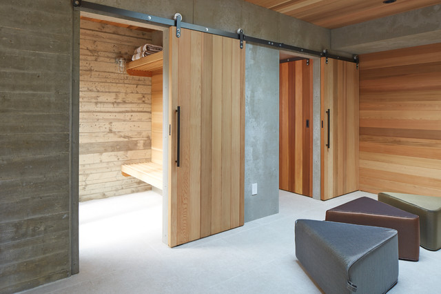 Changing Rooms Contemporary Swimming Pool Hot Tub