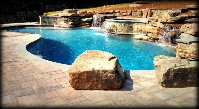 Boulders Around Pool Stunning Boulders Around Pool Coping & Boulders Ricorock® Incglamorous