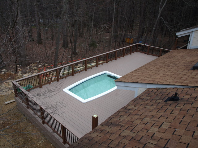 chapel hill pool and deck project traditional-pool