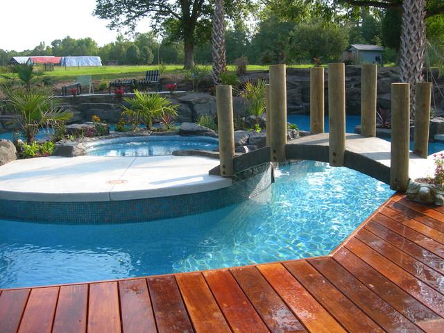 Charlotte Area Island Living tropical-pool