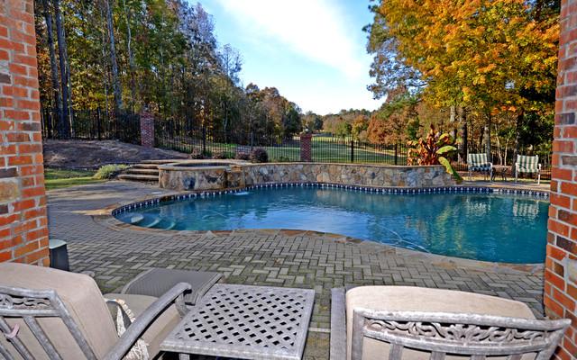 Chateau elan legends custom homes traditional pool for Custom home builders in atlanta