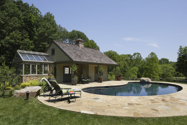 Chester Springs Residence Exterior traditional pool