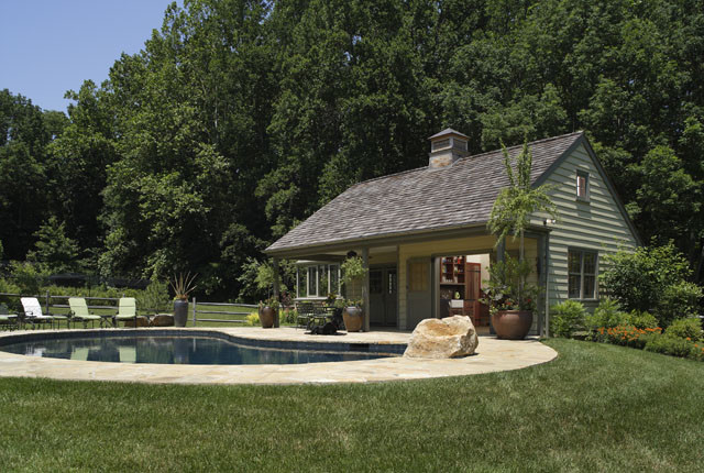 Chester Springs Residence Exterior traditional-pool