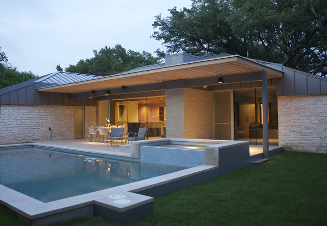 Chimney Corners Remodel modern pool