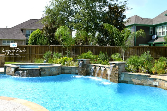 City of katy s traditional pool houston by for Pool design katy tx