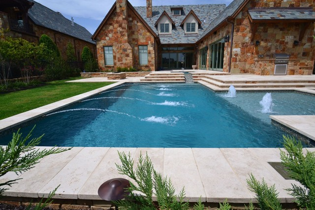 Claffey Pools Seafoam Green Pebble Sheen Modern Pool