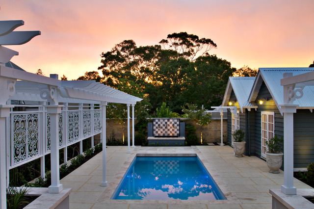 Claremont project traditional pool perth by tim for Davies landscape architects