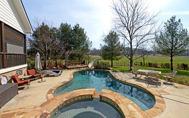Clarkesville Georgia Custom Homes traditional-pool