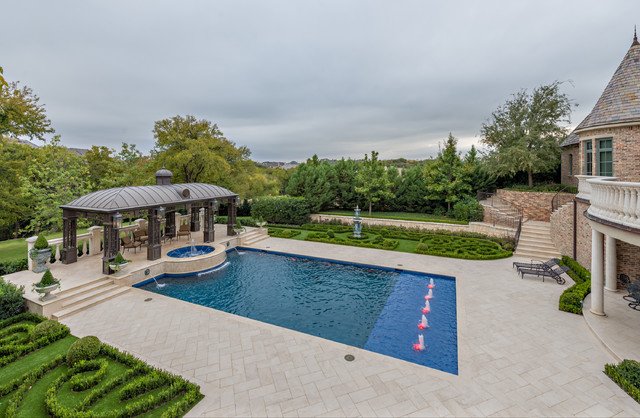 Private Residence - Formal Pool and Garden Pavilion traditional-pool