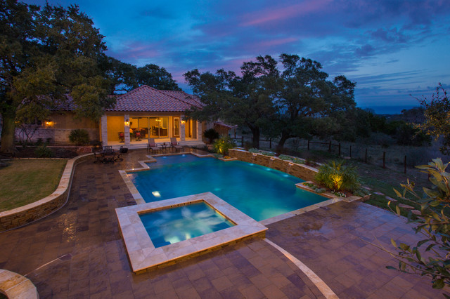 Classic Hill Country traditional-pool