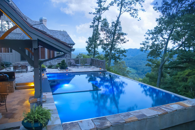 Cloud pool contemporary pool charlotte by for Pool and spa show charlotte nc