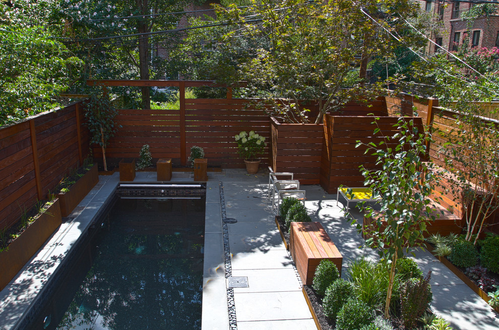 Inspiration for a 1960s pool remodel in New York