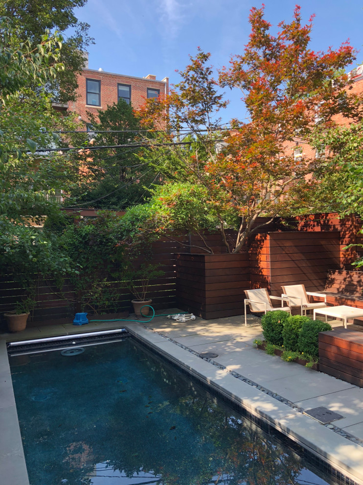 Example of a 1950s pool design in New York