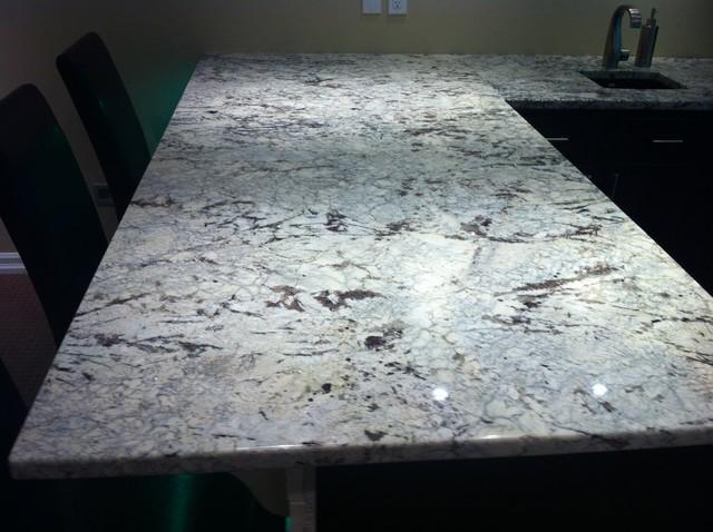 Cold Springs Granite Countertops : Cold spring granite bar with led lighting