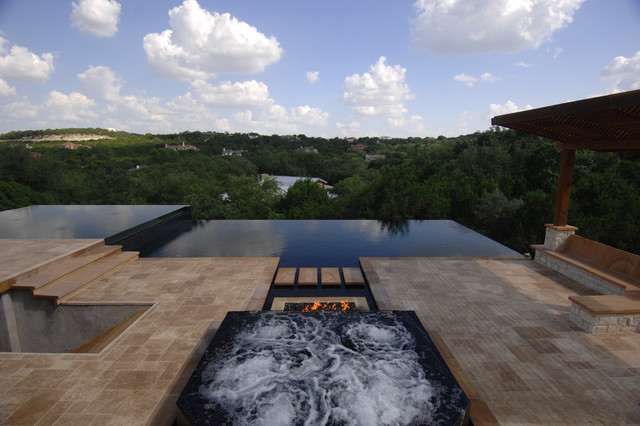 modern pool by Da Vida Pools, LLC, Andre Del Re & Lisa North, CBP