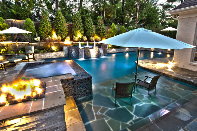 Collierville Modern Geometric Pool Spa Amp Outdoor Living