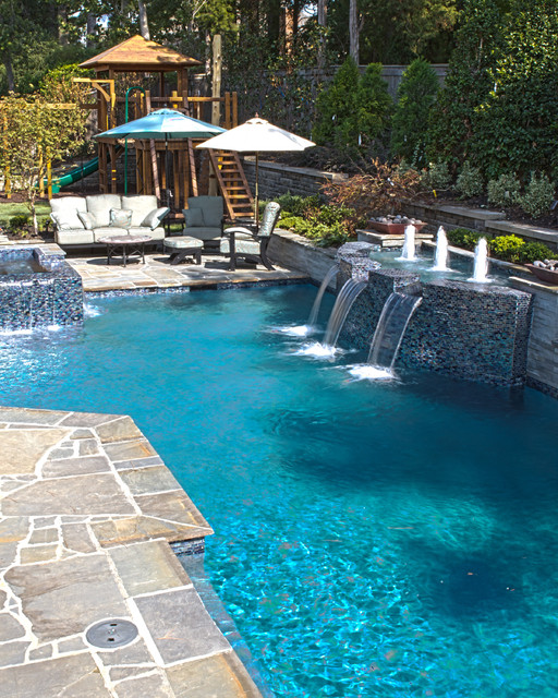Modern Pool Designs: Collierville Modern Geometric Pool, Spa, & Outdoor Living