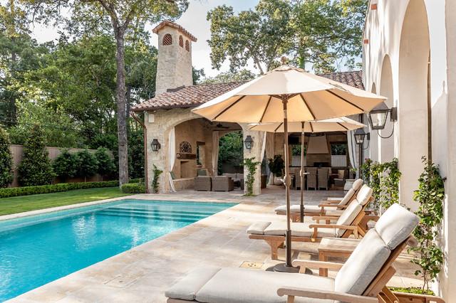 Colombian romantic mediterranean pool houston by for Pool design houston