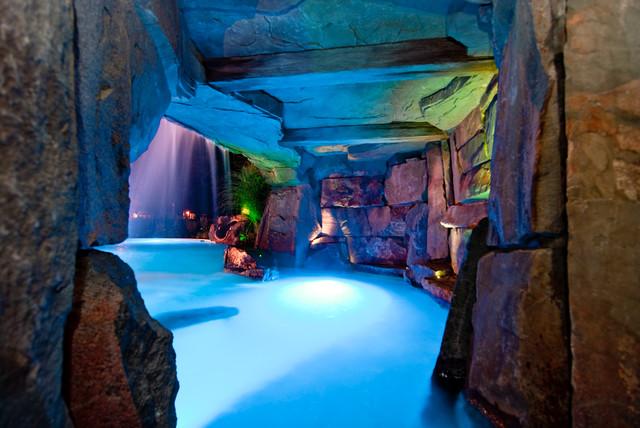 Color LED & Fiber Optic Pool Light Design Bergen County NJ tropical-pool