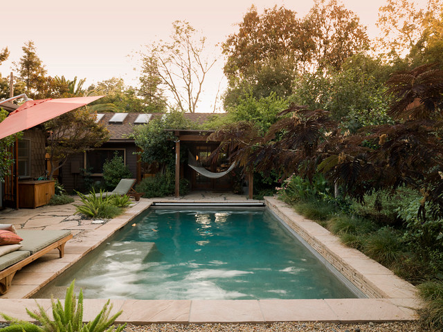 Comfy bungalow contemporary pool los angeles by for Garden pool bungalow