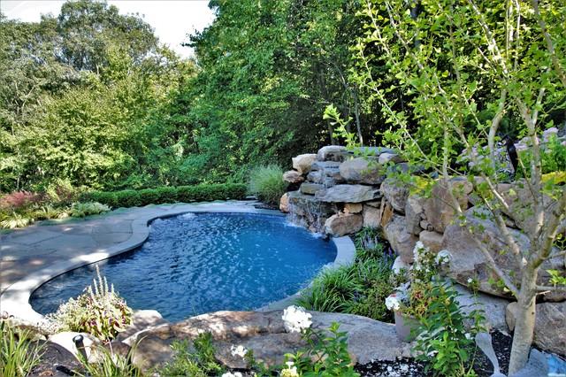 Compact Swim Spa Natural Design - Rustic - Pool - New York ...