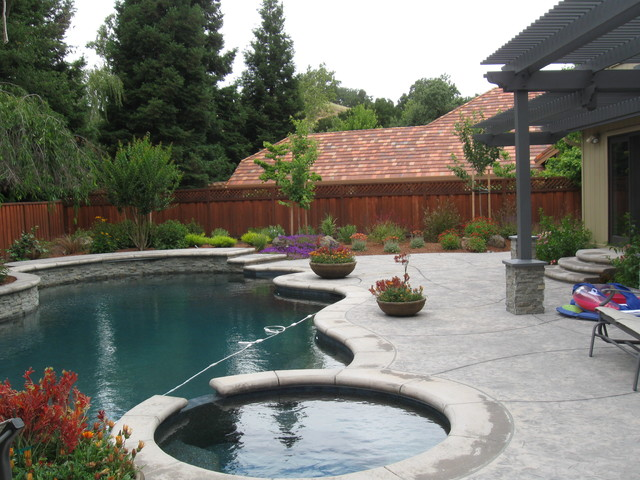 Backyard With Pool Remodel : Complete Backyard and Pool Remodel traditionalpool