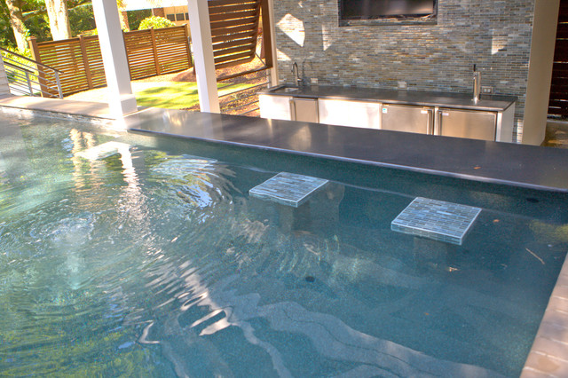 Complete backyard makeover contemporary pool other for Backyard makeover with pool