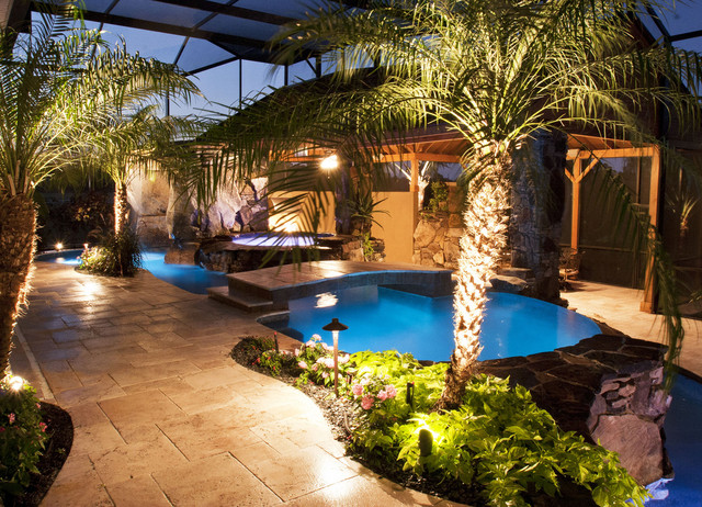Complete ultimate outdoor design tropical pool tampa for Pool design tampa
