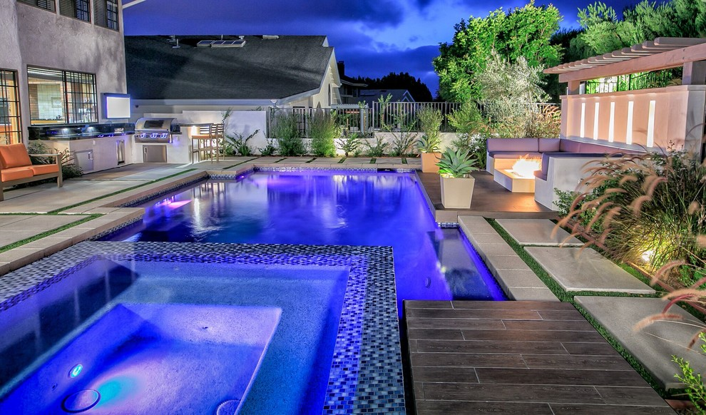 Example of a pool design in Orange County