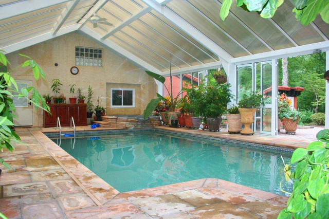 Conservatory Pool Cover contemporary-pool