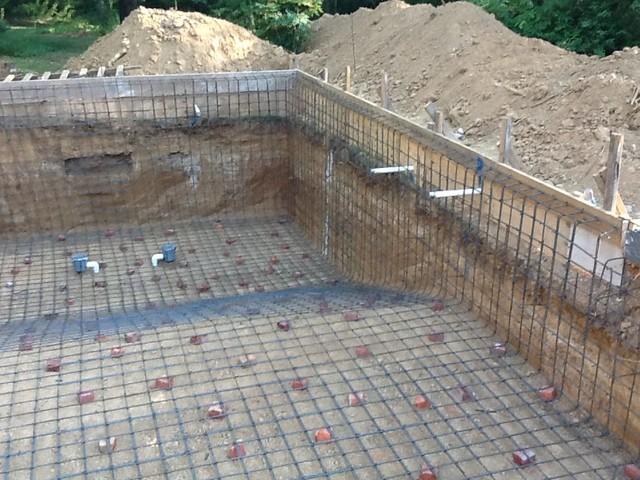 Swimming Pool Reinforcement : Construction photos steel reinforcement