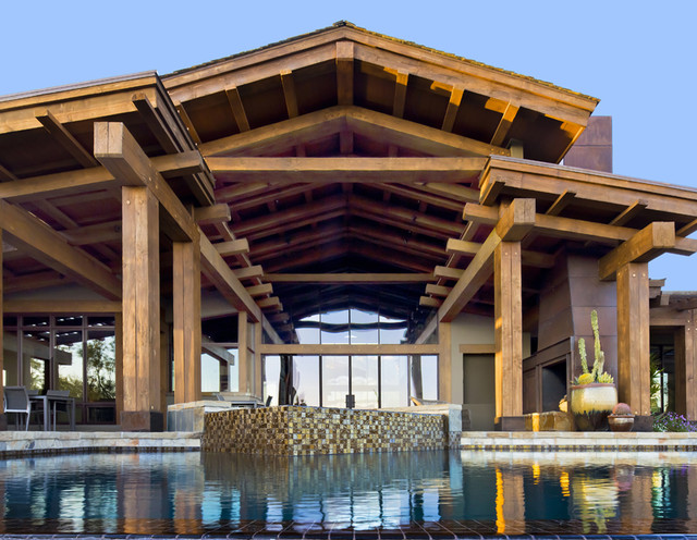 Modern Post And Beam Contemporary Pool Phoenix By