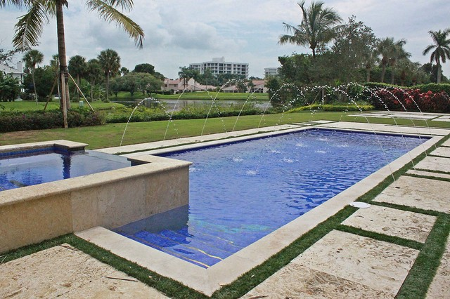 Contemporary boca raton traditional pool other metro for Pool design boca raton