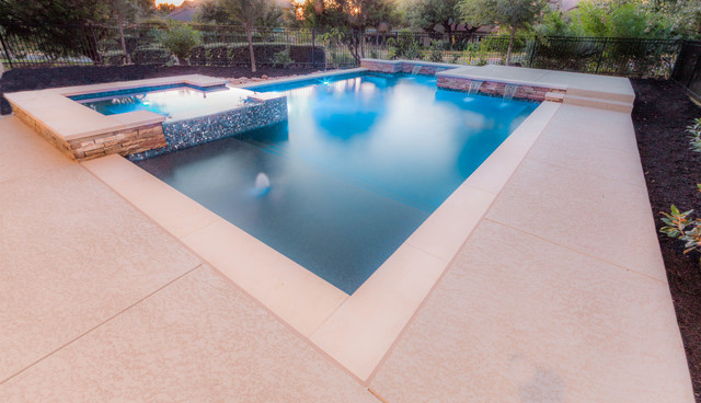 Contemporary clean lines contemporary pool austin for Pool design austin