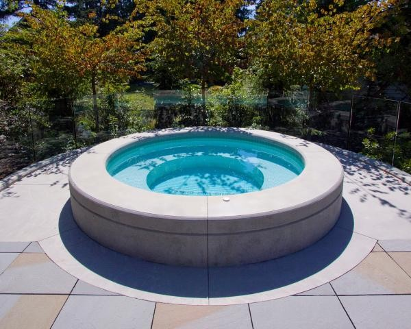 Contemporary Custom Built Hot Tub Contemporary Pool