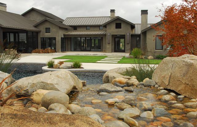 Contemporary farmhouse farmhouse pool sacramento for Farmhouse with swimming pool