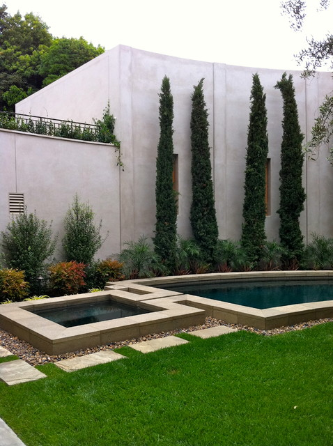 Contemporary La Jolla Landscape Architecture Courtyard