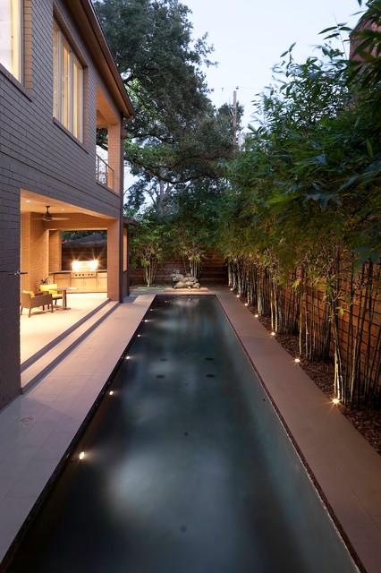 Contemporary Landscape And Pool Lap Design Contemporary
