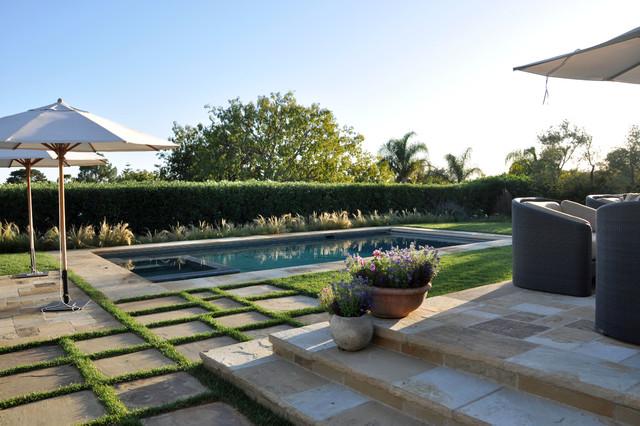 Contemporary Montecito Retreat mediterranean-pool