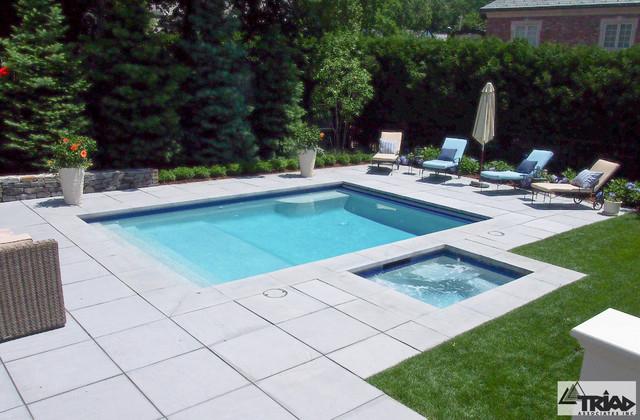 Contemporary Paver Pool Deck