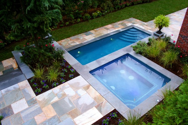 Contemporary Pool Spa Design And Installation Bergen