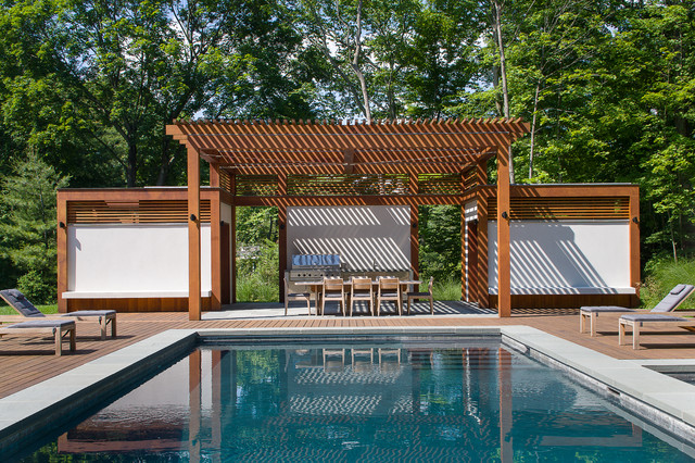 Contemporary pool house contemporary pool nashville for Pool design nashville