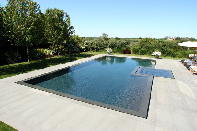 Infinity edge negative edge rimless pools contemporary for Pool edges design