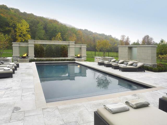 Pool Remodel Dallas Interior Limestone Pool  Houzz