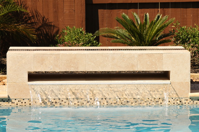 Contemporary Pool Modern Waterfall Contemporary Pool