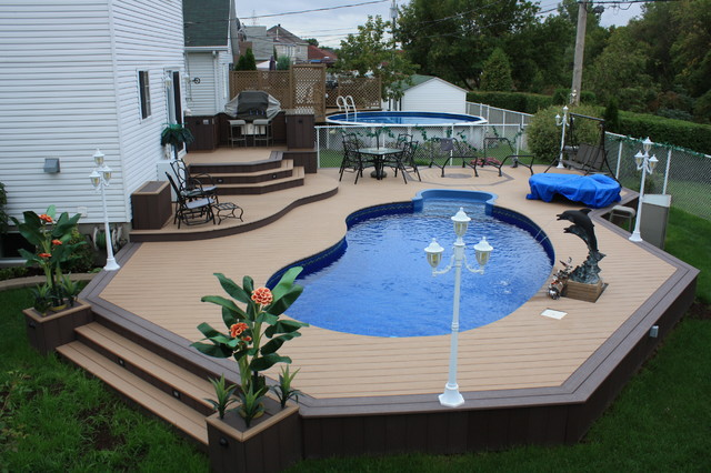 Patio Deck-Art Designs® NEW 2013 contemporary-pool on Pool Patios Ideas id=61075